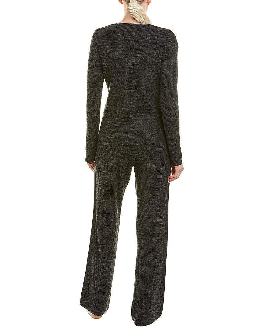 5955158b4074 Sofia Cashmere Womens Sofiacashmere 2Pc Thermal Lounge Cashmere Pajama Set