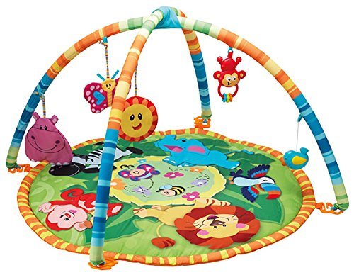 Krabbeldecke Spieldecke Dschungel Rasseln Spielmatte Erlebnisdecke Smily Play