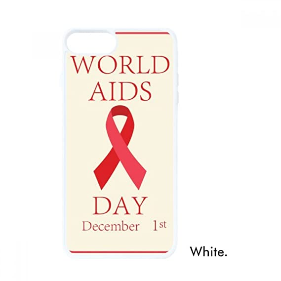 AIDS Day 1st December Red Ribbon HIV Symbol For iPhone 7/8 Cases White  Phonecase