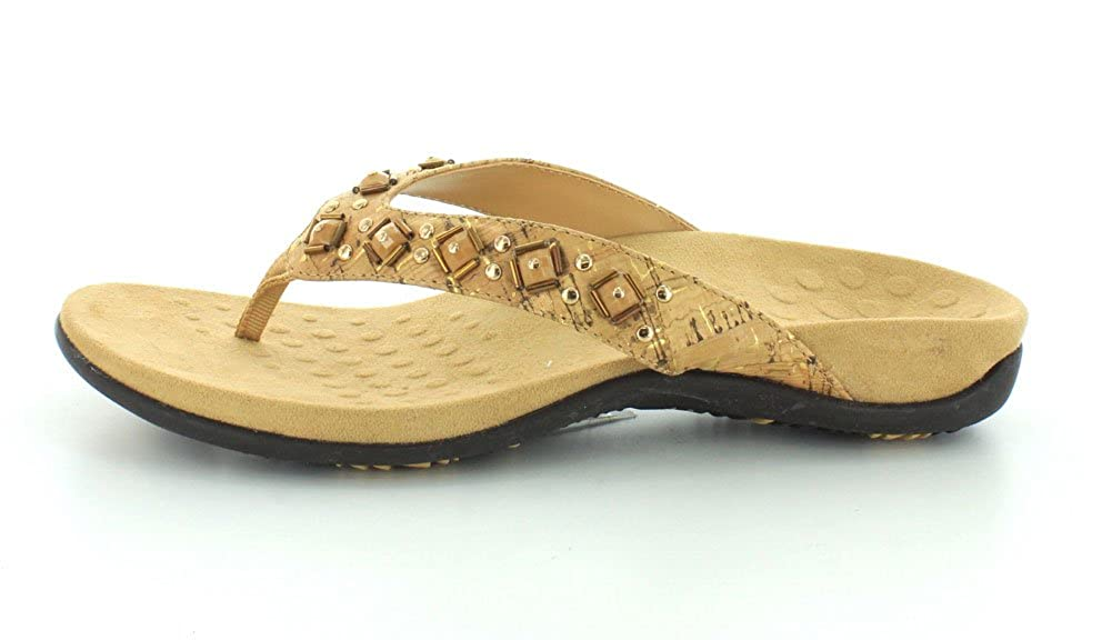 219c2a7da41 Amazon.com  Vionic Women s Rest Floriana Toepost Sandal - Ladies Flip Flops  with Concealed Orthotic Support  Shoes