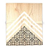Society6 Wood + Geometric With Pattern 88'' x 104'' Blanket