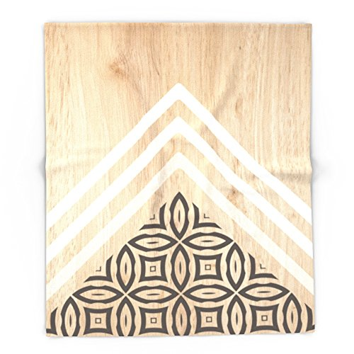 Society6 Wood + Geometric With Pattern 88'' x 104'' Blanket by Society6