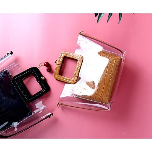 al Brown Marrón Yoome Marrón Mujer Hombro para Medium Bolso Marrón YooHY027 t7natvgqH