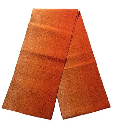 強要正統派指紋リサイクル 名古屋帯 紬 八寸 グラデーション 正絹