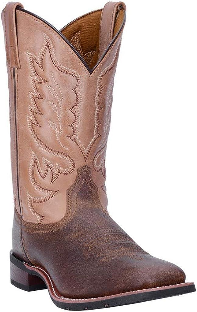 Laredo Mens Montana Sq Toe Choc/Sand Boots