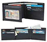 Best Wallet Men - Travelambo Genuine Leather RFID Blocking Wallets Mens Wallet Review