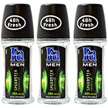 Fa Deodorant 1.7oz Roll-On (3 Pack) (fa MEN speedster energizing)