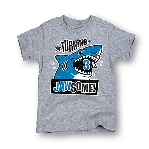 Turning 3 Is Jaw-some - TODDLER SHORT SLEEVE TEE