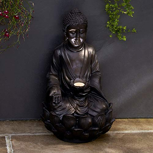 Light Up Garden Buddha