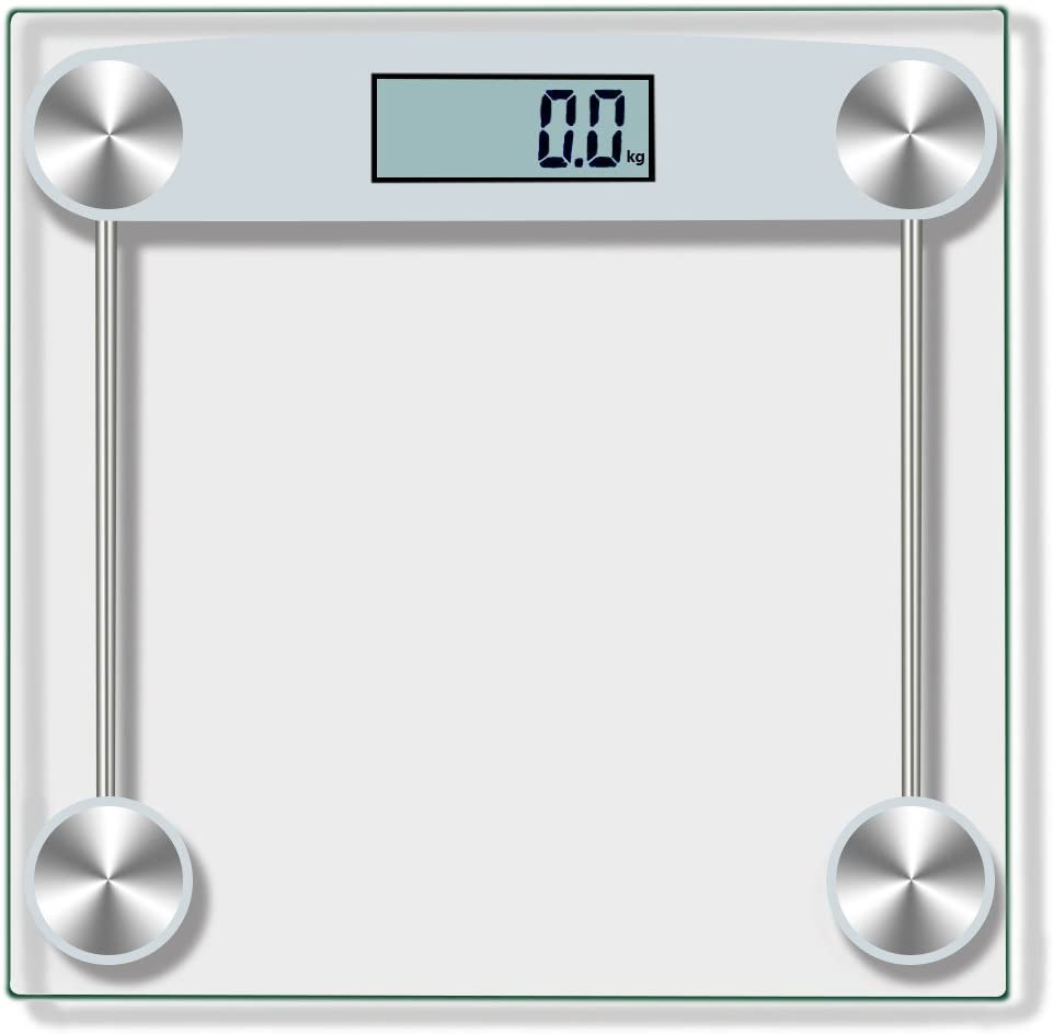 Anferstore Digital Body Weight Bathroom Scale Tempered Glass,150KG 330 Pounds Scales