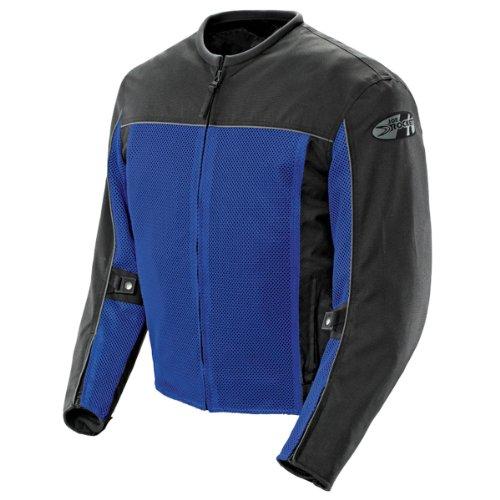 Joe Rocket Velocity Mens Blue/Black Mesh Motorcycle Jacket - X-Large