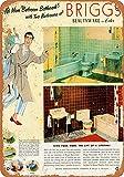 Best brigg toilet - Iliogine 1951 Brigg's Bathroom Fixtures Room Sign Wall Review