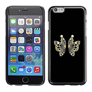 Slim Design Hard PC/Aluminum Shell Case Cover for Apple Iphone 6 Plus 5.5 Conceal butterfly / JUSTGO PHONE PROTECTOR