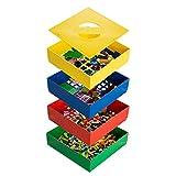 BOX4BLOX Toy Brick Sorter Box For All Popular Brands of Interlocking Building Blocks | Award Winning BOX4BLOX Storage Organizer Sorts and Stores Plastic Bricks by Size | Made in USA- 4 Tray