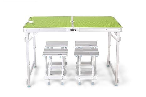 MONEYY Al Aire Libre y sillas Plegables mesas y sillas mesas de ...