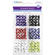 Multicraft Imports Glitter Swirl Glimmer Acrylic Disco Ball Bead Variety Pack 96 Pack