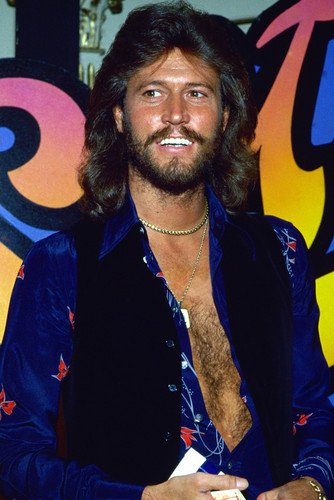 Barry Gibb and his wife