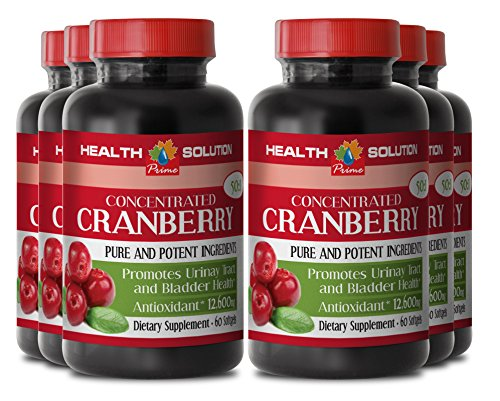 Cranberry concentrate pills - CONCENTRATED CRANBERRY 50: 1 - support heart health (6 bottles) by Health Solution Prime