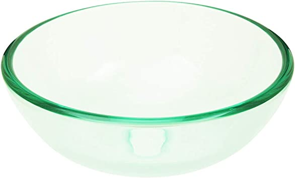 Renovator/'s Supply Tempered Glass Vessel Sink With Drain Clear Mini Bowl Sink Renovators Supply Clear Mini Bowl Sink