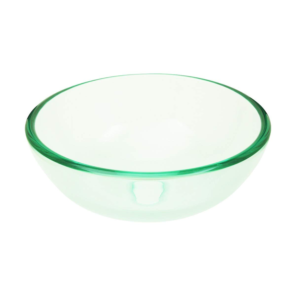 Tempered Glass Vessel Sink With Drain, Clear Mini Bowl Sink