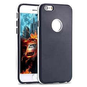 100pcs/lot via DHL/Fedex , Factory Price Double Candy Color Soft Case for iphone 6 4.7 TPU Slim Cover Cute Wholesale RCD04292 --- Color:Orange
