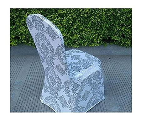 Lu0026L® Spandex Lycra Chair Cover Golden/Silver Floral Print Wedding Party  Events Xmas (