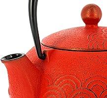 TT12083RD Hierro Iwachu Calentador Ola Roja Tetera Fonte 14 cm