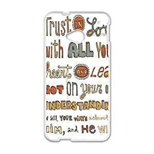 HTC One M7 Cell Phone Case White Peter Horjus Trust In the Lord Q9I7OV