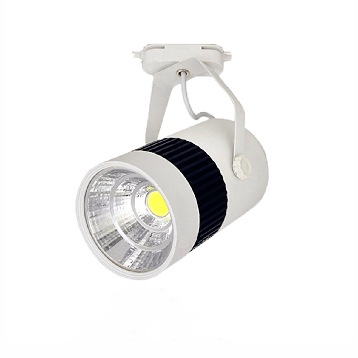Toika 20W LED Cob Track Light for Home/store/shoping malls lighting lamp Spot Light, Warm White (3000K-3200K) AC85-265V - 10pcs