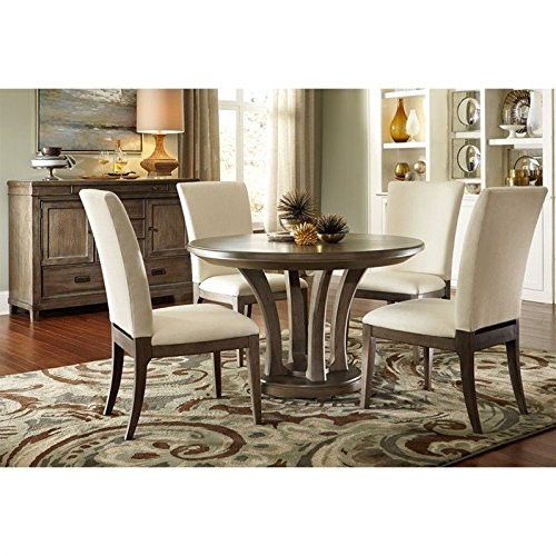"American Drew Park Studio 6 Piece 48"" Round Wood Dining Set in Taupe"