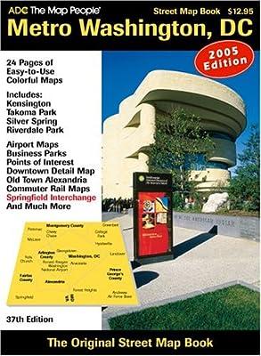 ADC The Map People Metro Washington, DC: Street Map Book