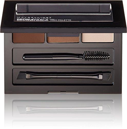 Maybelline Brow Drama Pro Eyebrow Palette, Auburn, 0.1 oz.