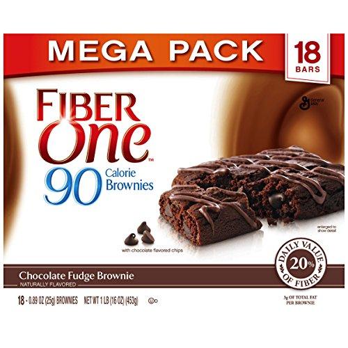 Fiber One Brownies, 90 Calorie Bar, Chocolate Fudge Brownie, 18 Fiber Bars Mega Pack, 16 oz