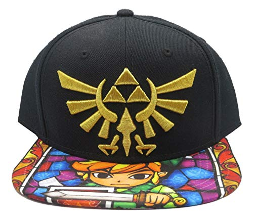 Nintendo Zelda- Stained Glass Sublimated Snapback Hat Size ONE Size