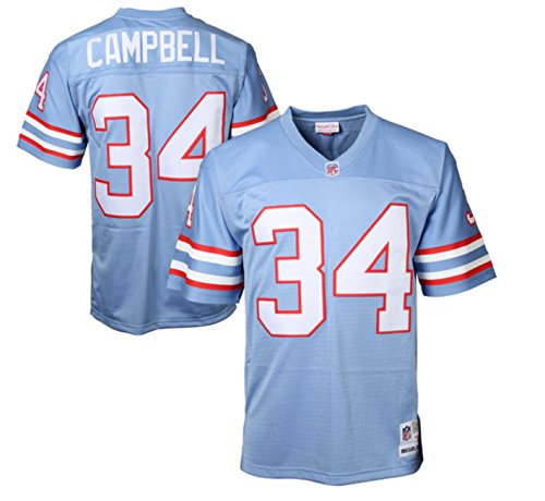 Earl Campbell Houston Oilers Mitchell & Ness Throwback Retro Replica Jersey (Blue) 2XL
