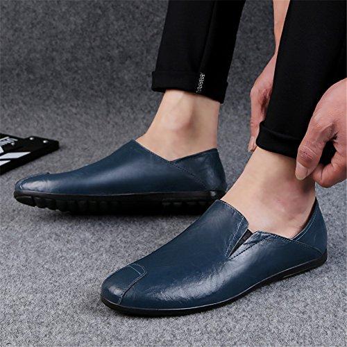 para Otoño Un Conducción Zapatos Mocasines Comfort Primavera Slip para Zapatos de Cuero Zapatos Hombres y Ons Caminar qCxwA7a6