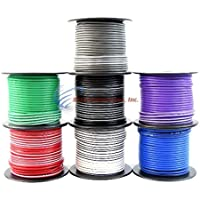 16 Gauge 100 ft Stripe Tracer Cable Single Conductor Remote Wire (7 Rolls)