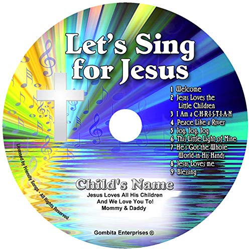 Children Name Personalized Music CD - Friendly Songs Let's Sing for Jesus - Music CD and