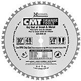 CMT 226.048.10 Industrial Dry Cut Steel Saw Blade, 10-Inch x 48 Teeth, 8° FWF with 5/8-Inch Bore