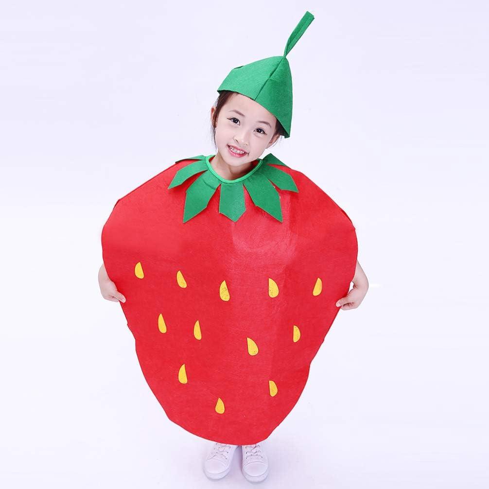 NUOBESTY - Disfraz de fruta para niños con sombrero, verduras ...