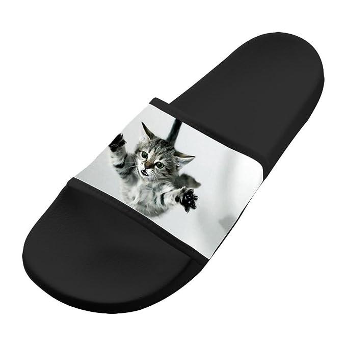 34cfc7a01e9710 Amazon.com  Original Slippers Free Falling Kitten Cat Antiskid Lovers Flip- flop Shoes Flat Sandals Walking Adult  Clothing