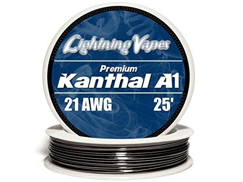 Genuine Lightning Vapes TM 21 AWG Kanthal A1 Wire 25' 50' 100' 250' 500' 1000' (25')