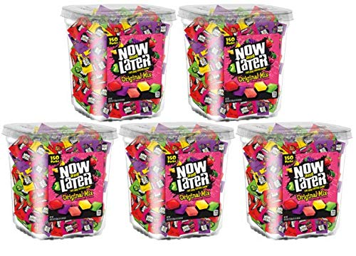 Now & Later Original Taffy Chews Candy, Assorted, 150 Count Chews, 90 Ounce Jar (Pack of 5) by Now and Later (Image #2)