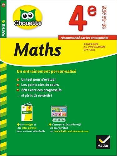 Livre gratuits en ligne Maths 4e: cahier de révision et d'entraînement pdf ebook