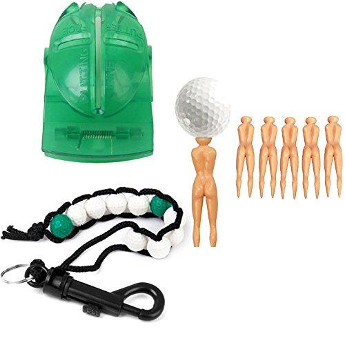 BEST GOLF GADGETS KIT Golf Stroke Counter Wrist | Golf Ball Marking Tool | Women Golf Tee Divot Repair Tool Golf Bead Stroke Counter Bracelet (Womens Golf Counter)