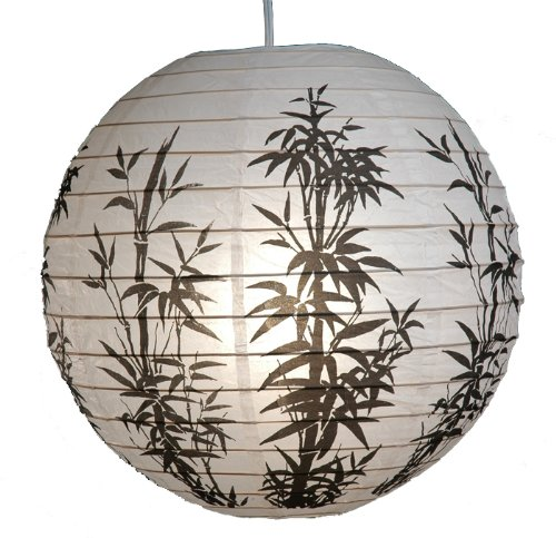 16-Inch-Japanese-Chinese-White-Paper-Lantern-with-Black-Bamboo-Home-Garden-Decoration-Pack-of-3