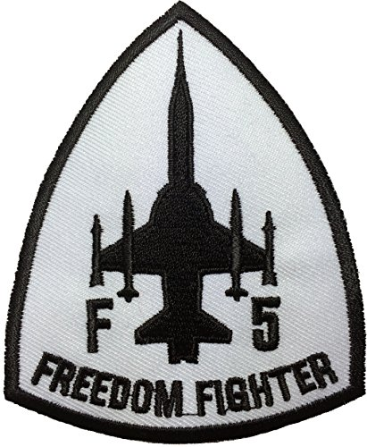 [F5 fighter freedom (white)Pilot Military Band Logo Jacket Vest shirt hat blanket backpack T shirt Patches Embroidered Appliques Symbol Badge Cloth Sign Costume Gift 7.5 x] (Top Gun Womens Bomber Jacket Costume)