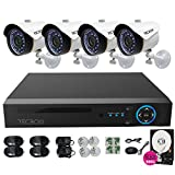 TECBOX Security Camera System 4 Channel 720P AHD Home Video Surveillance Equipment DVR 500GB Hard Drive Preinstalled with 4 HD 1.3MP Waterproof Night Vision Indoor Outdoor CCTV System Review