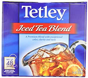 Tetley USA Iced Tea Blend (Family Size), 48-Count Packages (Pack of 6)