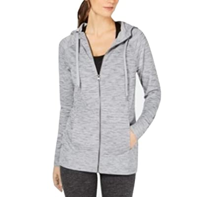 Ideology Space-Dyed Hoodie Grey Size XL at Women's Clothing store